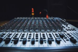 mixing desk - easier for sound engineers