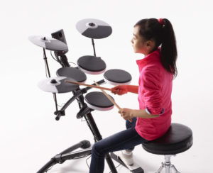 electronic-drum-set-with-rubber-heads