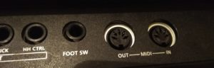 Octapad - foot switch and midi input/outputs